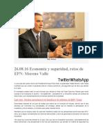 26.08.16 Economía y seguridad, retos de EPN- Moreno Valle
