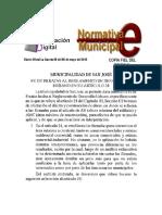 Fe de Erratas Al Reglamento de Desarrollo Urbano Municipalidad de San José Costa Rica