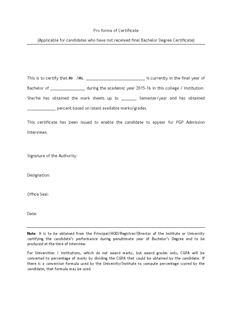 Course work completion – Course Completion Certificate Format