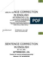 16927692 Sentence Correction in English