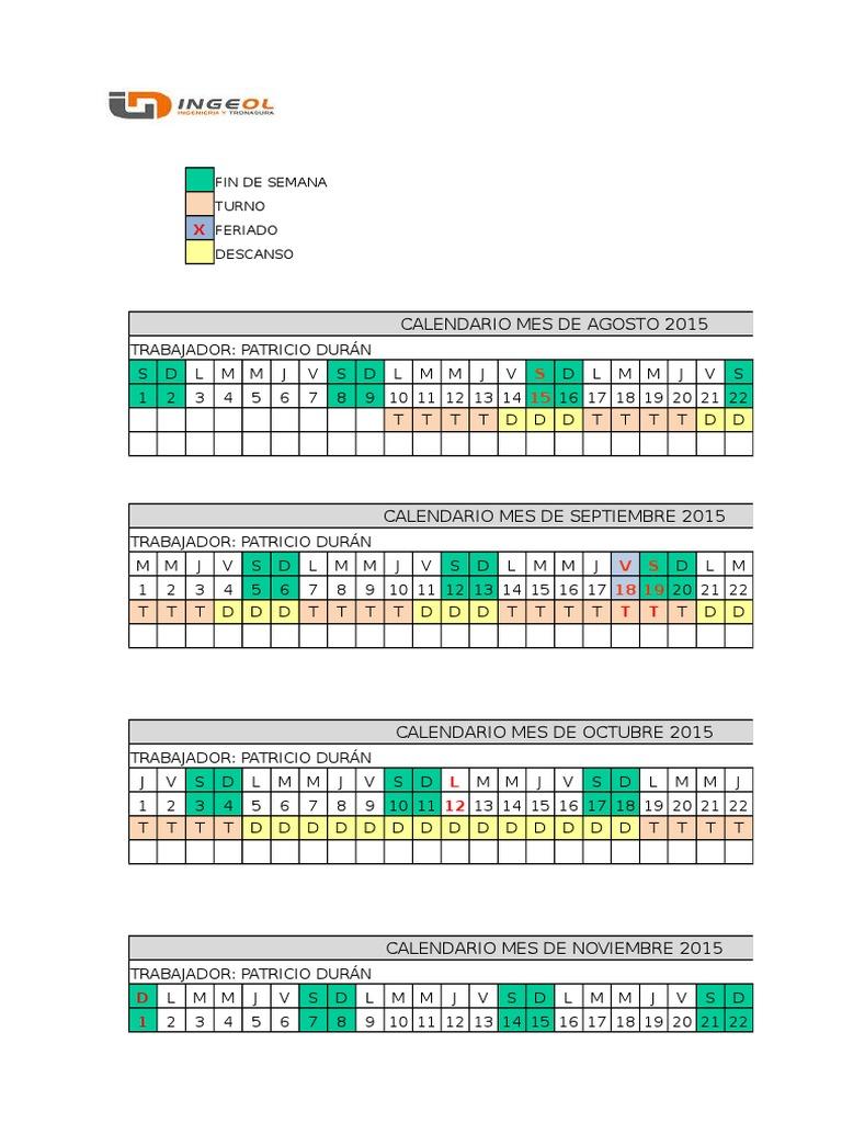 Calendario Turnos.Calendario Turnos 7x7 Con Proyeccion V2xlsx Agencia De