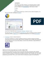 Editores HTML Modo Diseño WYSIWYG