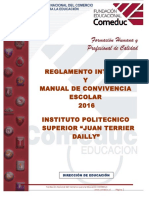 Reglamento Interno y Manual de Convivencia JTD 2016