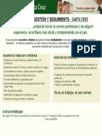 Analista de Gestión y Seguimiento - Santa Cruz