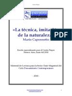 Mario Caponnetto - La Técnica, Imitación de La Naturaleza