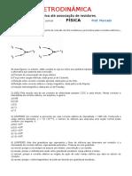 Eletrodinâmica - Lista de Corrente Elétrica Até Associação de Resistores.