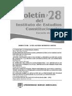 Aa.vv. Boletin Del Instituto de Estudios Constitucionales. Universidad Sergio Arboleda. Bogotá. 2011