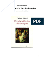 Origine et date des Evangiles - Les temoins oculaires de Jésus - Pere Philippe Rolland.pdf