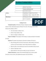 job readiness training syllabus
