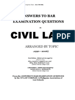 Civil Law Bar Questions