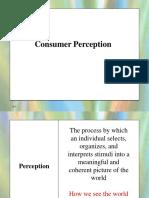 Consumer Perception for Quiz 1