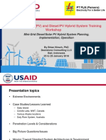Day 02-01 Minigrid Diesel_Solar PV Hybrid System Planning, Design and Operation Jan2016