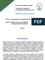 1analisis de Costos Unitarios.ppt 2015