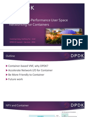 Container NFV + DPDK | Device Driver | Network Interface Controller