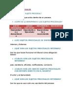 Sujetos Procesales y Clases Del Proceso