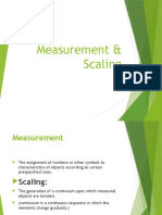 Measurement & Scaling
