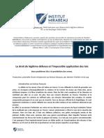 Le Droit de Légitime Défense v5 PDF