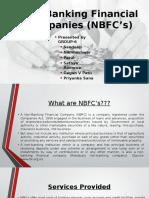 Non-Banking Financial Companies (NBFC's)