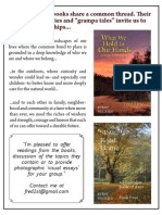 About Fred's Books / Book Table Flyer