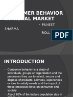 Consumer Behaviour in Rural Market
