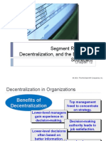 12 Segment Reporting, Decentralization & the Balanced Scorecard