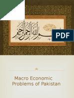 Macro Economic Problems of Pakistan