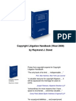 Copyright Litigation Handbook - Contents and Overview - Raymond J. Dowd