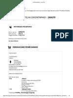 Garuda Indonesia - Reservasi CGK-TJQ (Pp) 29-31 Agustus 2016 268QTR an Utami Widiasih