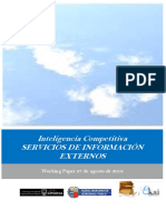 Inteligencia Competitiva. SERVICIOS DE INFORMACIÓN EXTERNOS