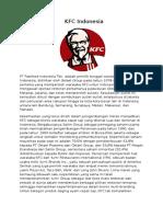 Visi Misi dan Analisa SWOT KFC Indonesia