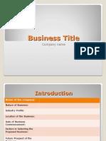 Sample Basic Slides for BP Presentation