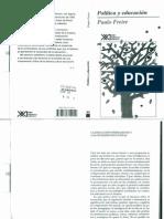Política y Educación Paulo Freire