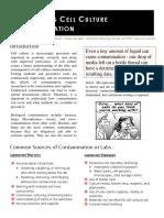 Cell Contamination Fact Sheet