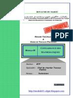 Module 06 Connaissance Des Mathematiques BTP TCCTP