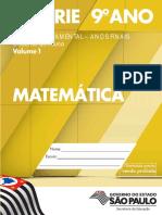 CadernoDoAluno 2014 Vol1 Baixa MAT Matematica EF 8S 9A