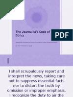 Journalists Code of Ethics