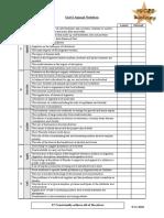 IGCSE checklist