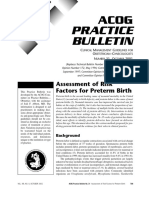 No. 31. Assessment of Risk Factors for Preterm Birth