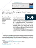 Coping with climate change uncertainty for adaptation planning