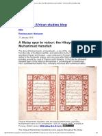 A Malay Spur to Valour_ the Hikayat Muhammad Hanafiah - Asian and African Studies Blog