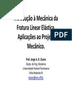 Aula1 Prof Duran - Mecanica Da Fratura