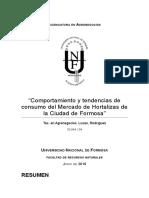 Lucas Rodriguez - Comportamiento y Tendencias de Consumo Del Mercado de Hortalizas de La Ciudad de Formosa (PI) 1