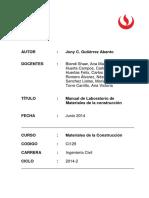 Manual de Laboratorio de Materiales de La Construcción