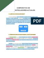 Caracteristicas de Microcontroladores