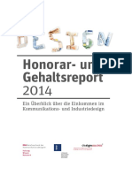 Honorar Und Gehaltsreport Design 2014 ES