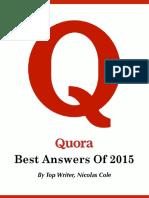 Quora Top Answers Nicolas Cole 2015