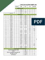Loss Calculation Sheet