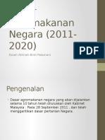 Dasar Agromakanan Negara (2011-2020)