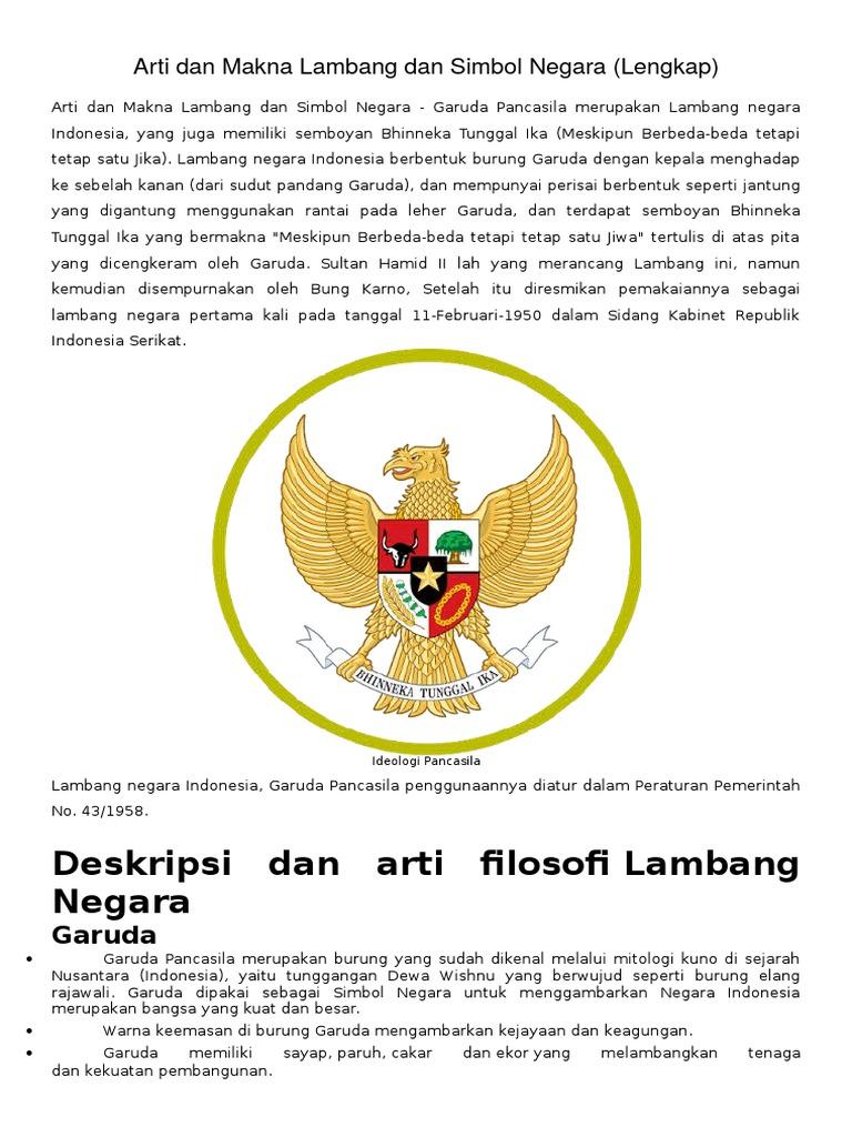 Arti Dan Makna Lambang Dan Simbol Negaradocx