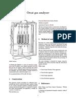 Orsat Gas Analyser